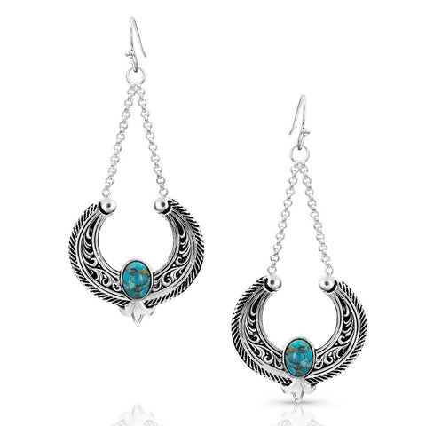 Montana Silversmiths Blue Moon Turquoise Basket Earrings ER4043TQ
