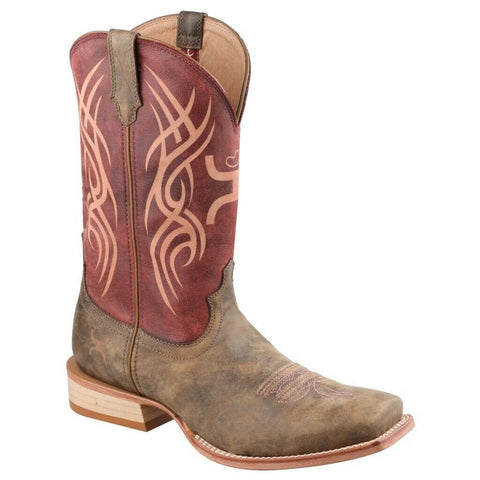 Twisted X Ladies Hooey Red/Bomber Tribal Boots WHY0003
