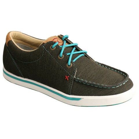 Twisted X Ladies Rubberized Brown & Turquoise Casual Shoes WCA0029
