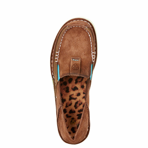 Ariat® Ladies Cruiser Palm Brown Suede Turquoise & Green Shoe 10017457 - Wild West Boot Store