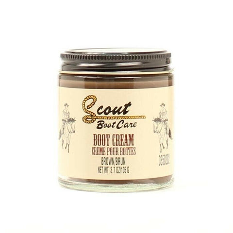 Scout Brown Leather Boot Cream Polish 3.7oz 0350202
