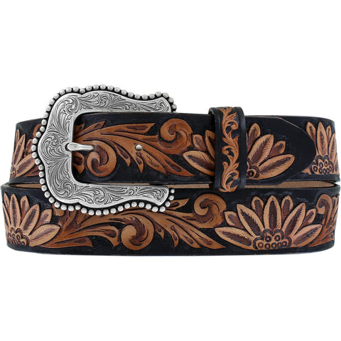 Tony Lama Ladies Brown Delheart Daisy Belt C51263
