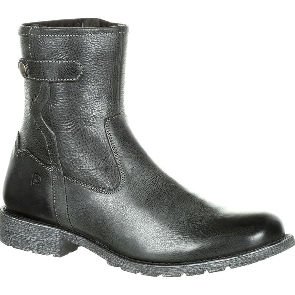 "Durango Men's Drifter 8"" Black Slate Side-Zip Short Boots DDB0153"