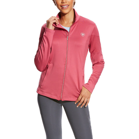 Ariat® Ladies AriatTEK Tolt Rose Pink Full-Zip Sweatshirt 10025763 - Wild West Boot Store