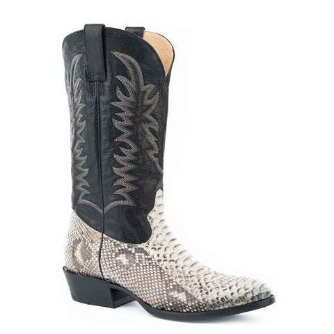 Stetson Men's White Python Belly Exotic Boots 12-020-6109-4030
