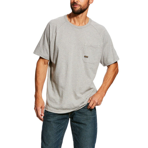 Ariat® Men's Rebar CottonStrong Grey Short Sleeve T-Shirt 10025373