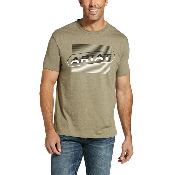 Ariat® Men's Parallel Short Sleeve Olive Heather T-Shirt 10033355