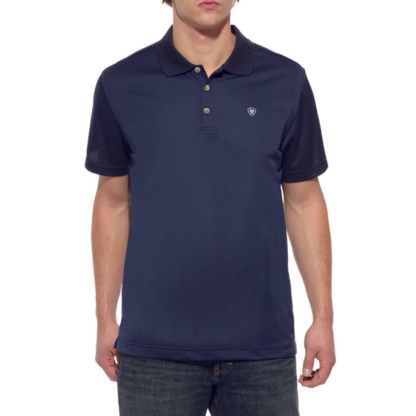Ariat® Men's AriatTEK™ Navy Polo Shirts 10009063