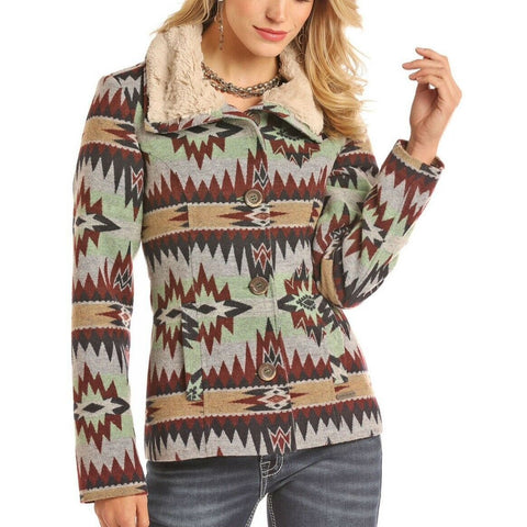 Panhandle Ladies Jacquard Aztec Jacket 52-2639