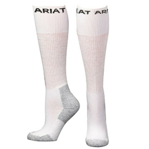 Ariat Men's 3 Pack Over-The-Calf White Boot Socks A2503405