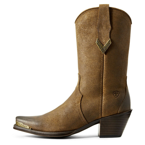 Ariat® Ladies Shayla Sepia Suede Lightweight Western Boots 10029667