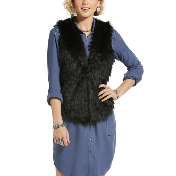 Ariat® Ladies Dazed Black Faux Fur Vest 10032859