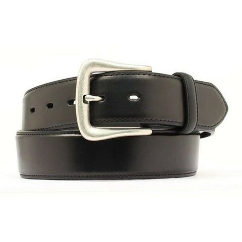 Nocona Men's Smooth Black Billet Leather Belt N2450401