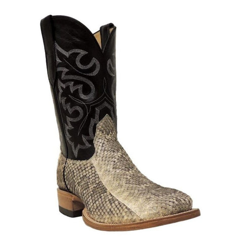 Cowtown Men's Exotic Rattlesnake Square Toe Western Boots Q715 - Wild West Boot Store
