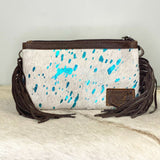 American Darling White Cowhide With Fringe Crossbody ADBGS142ACTRQFRNG