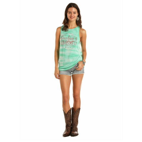 Rock & Roll Cowgirl Ladies Sunshine & Whiskey Tie Dye Tanks 49-1639