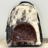 American Darling Black and White Cowhide Backpack Purse ADBGS156ACSL