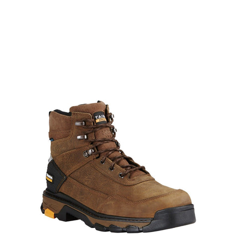 "Ariat® Men's Intrepid 6"" Brown Waterproof Lace Up Work Boots 10020078 - Wild West Boot Store"