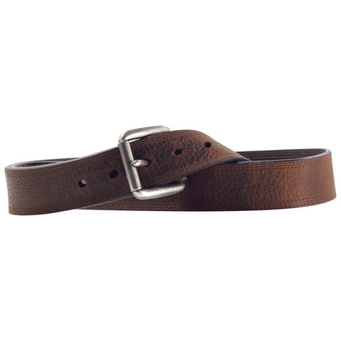 Ariat Men's Dark Brown Triple Stitch Leather Belt A10004630