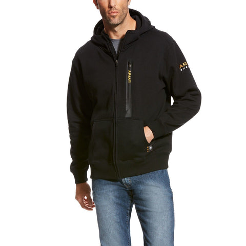 Ariat® Men's Rebar Workman Black Full Zip Hoodie 10023937