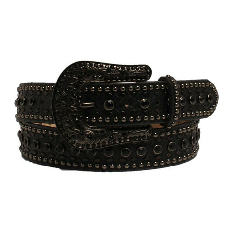 Nocona Ladies Black Studded Western Belt N3410201