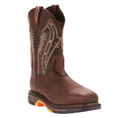 Ariat® Men's Workhog XT Dare Brown Carbon Toe Work Boots 10024952 - Wild West Boot Store