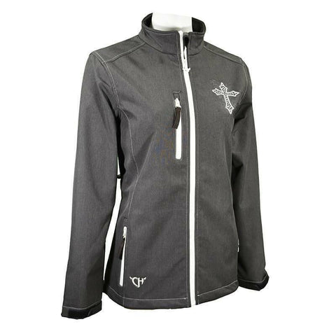 Cowgirl Hardware Ladies Dark Choclate Blooming Cross Jacket 292171-664