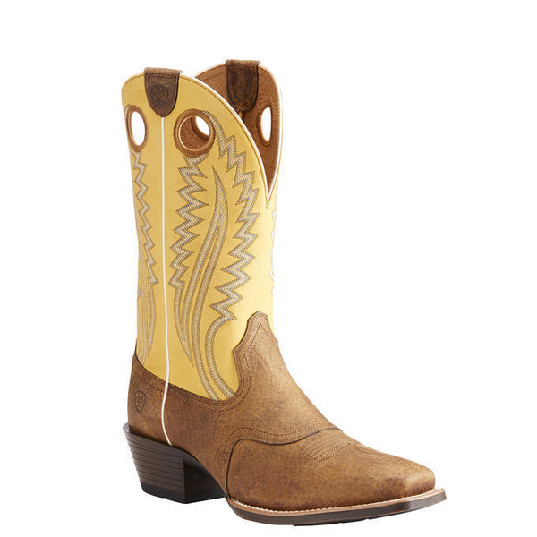 Ariat® Men's High Desert Earth Brown & Tack Room Gold Boots 10023173 - Wild West Boot Store