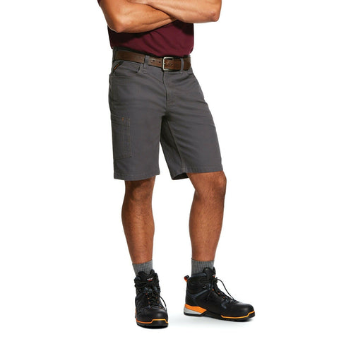 Ariat® Men's Rebar™ Grey Made Tough DuraStretch Work Shorts 10030271