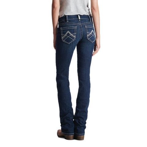 Ariat Ladies R.E.A.L Mid Rise Stretch Icon Straight Leg Jeans 10017216