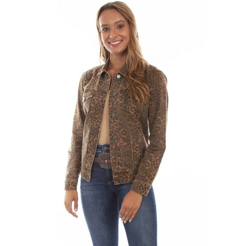 Scully Ladies Leopard Denim Jacket HC642-LEP