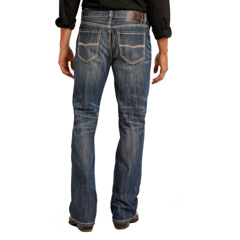 Rock & Roll Denim Men's Double Barrel Relaxed Straight Jeans M0S1437