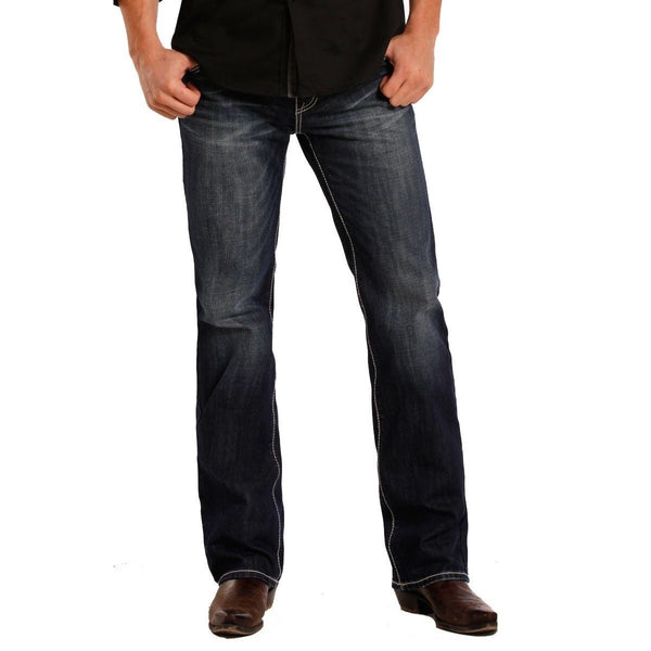 Rock & Roll Denim Men's Pistol Straight Jeans M1P8555