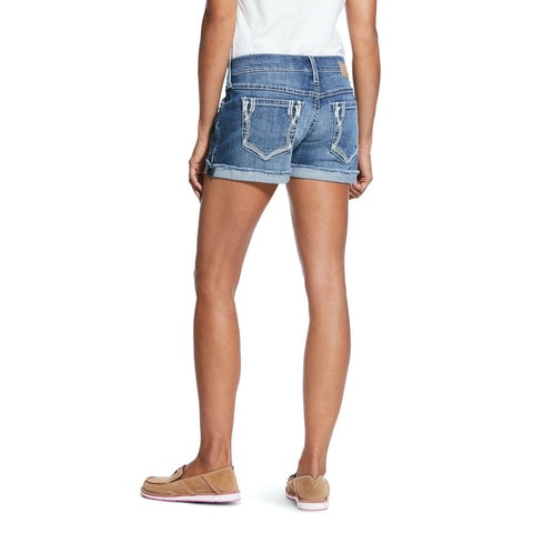 "Ariat® Ladies Boyfriend Lonestar Sunstruck Mid Rise 5"" Shorts 10032035"