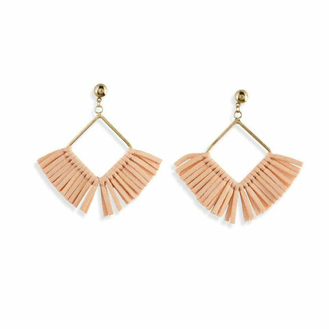 Myra Bag Candy Floss Suede Drop Earrings S-1771