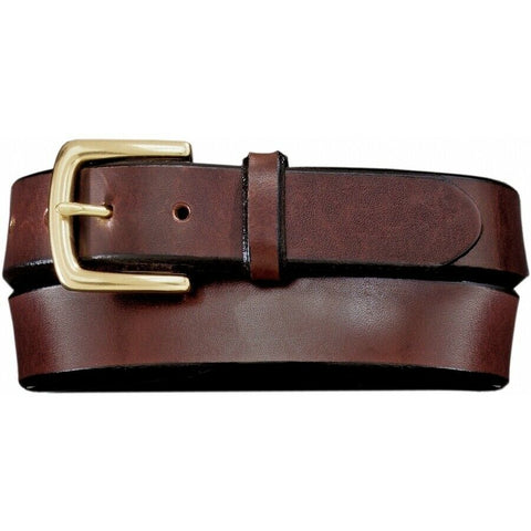 Brighton Men's Brown English Bevel Latigo Belt 21807