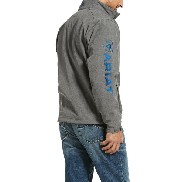 Ariat® Men's Logo 2.0 Softshell Charcoal & Cobalt Jacket 10032933