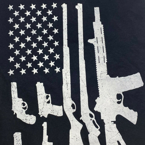 "2nd Amendment Shirts ""Assorted Guns"" Black Short Sleeve T-Shirt 20262"