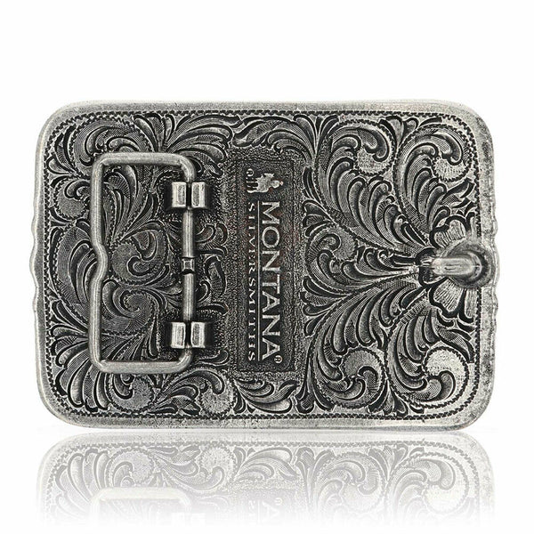 Montana Silversmiths Antiqued Longhorn Attitude Buckle A828