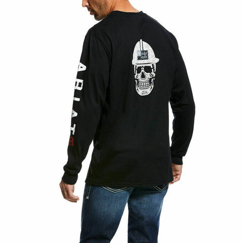Ariat® Men's FR Roughneck Black Skull Long Sleeve T-Shirt 10026434