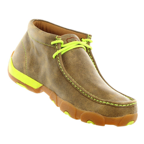 Twisted X Men\'s Brown Bomber/Yellow Driving Moc MDM0026 - Wild West Boot Store - 1