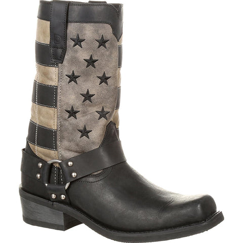 Durango Men's Patriotic Black Faded Flag & Harness Boot DDB0141 - Wild West Boot Store