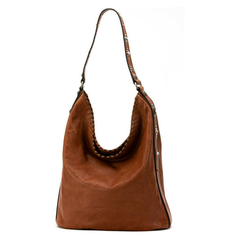 Frye Ladies Concho & Studded Leather Hobo Bag 34DB0243-COG