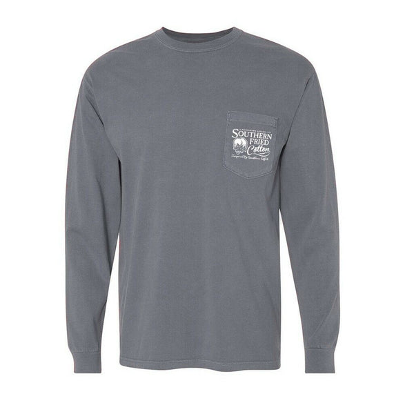 Southern Fried Cotton Small Town USA Granite LS T-Shirts SFM31509