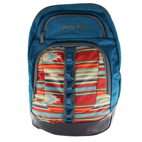 Hooey Ox Blue & Aztec Print Backpack Bag BP032AZ