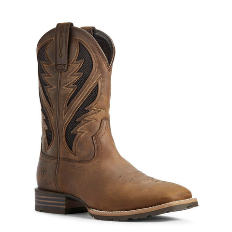 Ariat Men's Distressed Tan Hybrid VentTEK Boots 10031454