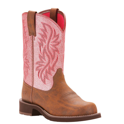 Ariat® Ladies Fatbaby Heritage Tall Pink Western Boots 10025033 - Wild West Boot Store