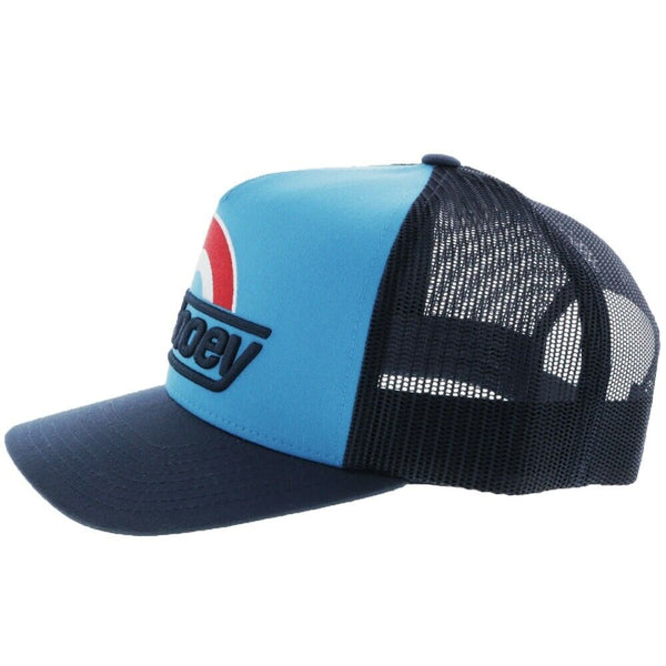 Hooey SUDS 5 Panel Blue & Navy Trucker Hat 1911T-BLNV