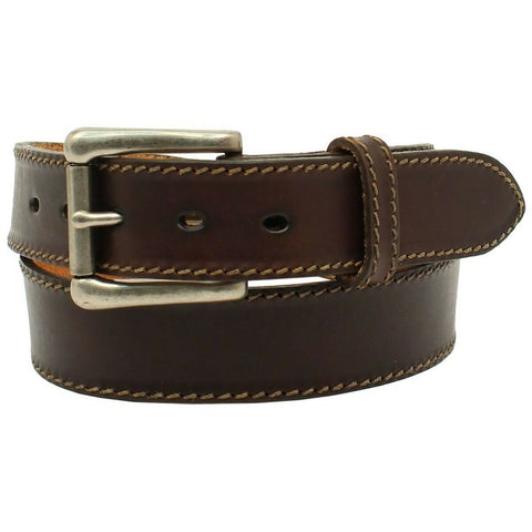 Nocona Men's Chocolate Ocala Leather Belt N2300947