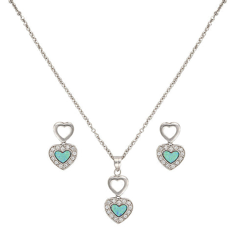 Montana Silversmith River Lights in Love Jewelry Set JS2537